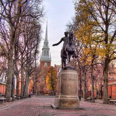 Paul Revere statue Boston.  Boston is my favorite city.  Awesome place to visit!!!