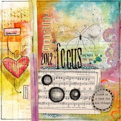 Art Journal, paper, paint and glue site, 2012 focus