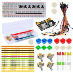 For Arduino Starter Kit Basic Learning Suite UnO R3 Kit Upgraded Breadboard Dupont Cable Resistors LEDs