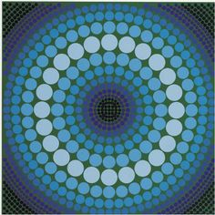 """Victor Vasarely (1906-1997) was a Hungarian–French artist, who is widely accepted as a """"grandfather"""" and leader of the short-lived op art movement. His work entitled Zebra, created in the 1930s, is considered by some to be one of the earliest examples of op art."""