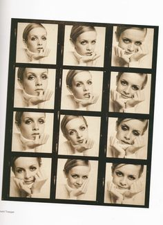 Twiggy 1967 contact sheet ~ Photos by Ronald Traeger
