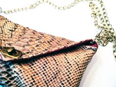 DIY: Snake Leather Envelope Purse