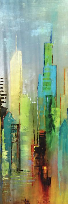 Steel Rising Panel I by Dominick 2 Piece Painting Print on Wrapped Canvas Set
