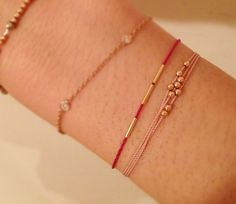 catbird: What We Love Today: Friendship  Q: Why are friendship bracelets very extra special when they have 14k gold beads on them?  A: Because gold lasts.    ♥ rony    Hortense Friendship Bracelets with 14k Gold Beads, $44