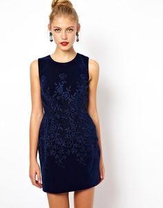 Asos Embroidered Velvet Prom Dress on shopstyle.com