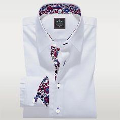 Luxury White Tailor Made Shirt Panache Bespoke Custom Made Shirts 2 Tailor Made Shirts, Custom Made Shirts, Plain White Shirt, White Shirts, Pin Collar Shirt, Collar Shirts, Tailored Shirts, Casual Shirts, Medium Blue Suit