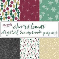Free Christmas Digital Scrapbook Paper 2019 Make Christmas paper crafting easy with these beautiful and free Christmas digital scrapbook papers. Six festive prints designed to be printed double sided with beautifully coordinated colors. Free Digital Scrapbooking, Digital Scrapbook Paper, Digital Paper Free, Printable Scrapbook Paper, Printable Paper, Scrapbook Paper Crafts, Free Paper, Paper Crafting, Digital Papers