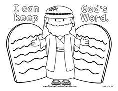 Excellent Free Printable Ten Commandments Coloring Pages