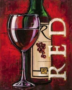 Bruce-Langton-Red-Wine-Tasting-Fertig-Bild-40x50-Wandbild-Kueche-Wein-Glas