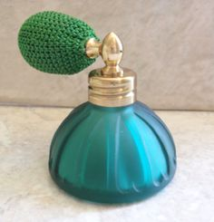 Emerald Green Perfume Cologne Sprayer Atomizer by cutterstone, $27.00