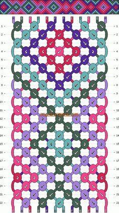 Normal Friendship Bracelet Pattern #4378 - BraceletBook.com