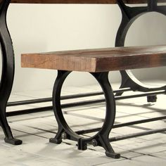 Hyatt Canning Industrial Reclaimed Wood Dining Bench (image 1)