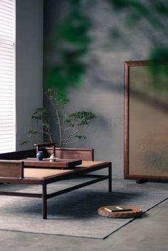 'Zen' furniture design by Thrudesign. 'Zen' furniture design by Thrudesign. Zen Furniture, Asian Furniture, Chinese Furniture, Furniture Design, Furniture Stores, Zen Design Interior, Japan Interior, Wabi Sabi, Chinese Interior