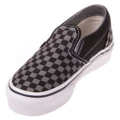 2f75deeec7 Find great prices on Vans Youth Classic Slip On Black True White Checker  Shoes and all styles of men