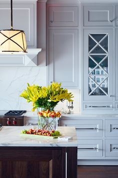Fresh flowers are a great way to brighten up your kitchen and your day—a simple way to add life and color to your home this winter.