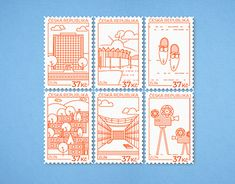 Postage Stamps, New Work, My Design, Appreciation, Behance, Profile, History, Gallery, Illustration