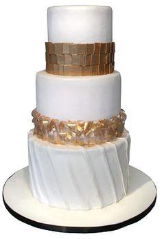 Ivory and Champagne Wedding Cake | vestido de novia: Casamiento color champagne: versión express II