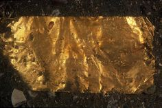 Gold plaque (11 x 5 cm) engraved with a Greek text of five and a half lines found during preliminary exploration of the southern sector of Heracleion. It is an example of the plaques added to foundation deposits as dedications from donators, here king, Ptolemy III (246–222 BC), who commissioned the building.