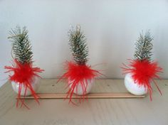 Christmas centerpiece table decoration by ArtProlific on Etsy, $20.00