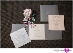 Las Vegas Wedding Planners, pink, gray, personalized M's, bridal session, getting ready, Revolution Lounge, Siena Golf Club, Silver beaded chargers, pearl wedding cake, wrapped napkin, floral arch, pink bridesmaid dresses, wedding bands