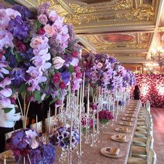#Tablescape Look at those delicious violet hues! #karentran