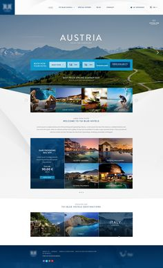 """Homepage hotel chain"" by Xavi Puig Hernandez Website Design Inspiration, Best Website Design, Hotel Website Design, Travel Website Design, Travel Design, Interaktives Design, Web Design Tips, Page Design, Layout Design"