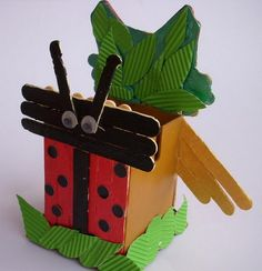 Ladybird and Owl - Homemade Popsicle Stick Crafts, http://hative.com/homemade-popsicle-stick-crafts/,