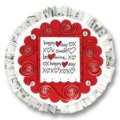 Valentine Card 7 Quilled Valentine Circle Card