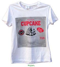 T-Shirt KeeVeet CUP CAKE Donna Realtà Aumentata con App. Cotone Misura S. - T-Shirt KeeVeet Realta' Aumentata con App - Regali Curiosi