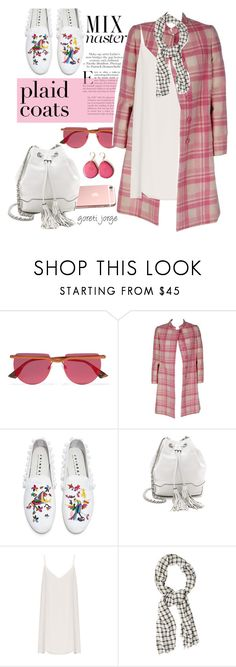 """Pattern Mix: Plaid Coats"" by goreti ❤ liked on Polyvore featuring Libertine, Le Specs, Joshua's, Rebecca Minkoff, Raey and RVCA"