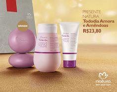 Presente Natura Tododia Amora e Amêndoas - Sabonete em Barra + Desodorante Hidratante + Creme para as Mãos + Embalagem Desmontada