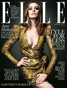 BRITISH ELLE - DECEMBER 2010 MODEL : Anne Hathaway