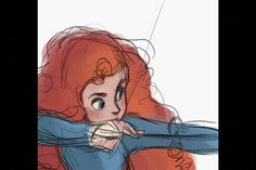 Merida Animated by WillowWaves
