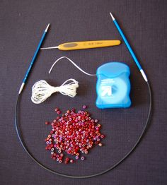 How to knit with beads tutorial