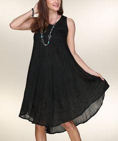 8014529634 Love this Black Embroidered Sleeveless Dress on  zulily!  zulilyfinds Love  Fashion