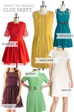 Clue party dress ideas :)