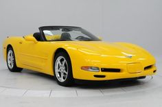 AutoTrader Classics - 2003 Chevrolet Corvette Convertible Yellow 8 Cylinder Manual | Modern Performance | Houston, TX