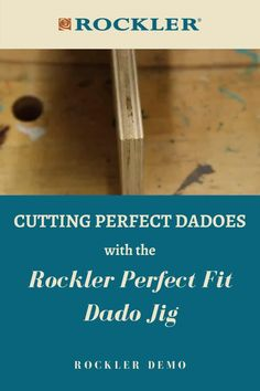 In this Rockler demo, we'll show you how to cut dadoes that fit your workpiece perfectly. Joanne Liebler demonstrates how to use our new Perfect Fit Dado Jig to do just that. Watch here! #createwithconfidence #perfectdadoes #dadojig #rocklerinnovations #rocklerdemo Rockler Woodworking, Beginner Woodworking Projects, Learn Woodworking, Woodworking Techniques, Woodworking Videos, Wood Carving Tools, Weekend Projects, Wood Working For Beginners, Crafts To Sell