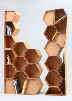 I like this, as it is a different style to a bookcase, and can be used to store other items than books. I like the design, and the repeated pattern of the hexagon.