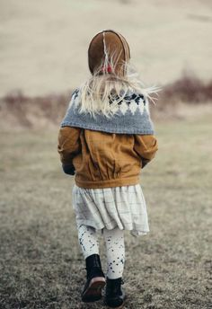 Lovely co-ordination with a Nordic wrap over Milk&Biscuits kids fashion for fall 2015