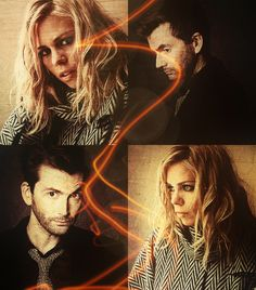 David Tennant and Billie Piper, aka The 10th Doctor and Rose Tyler