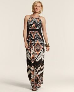 Chico's Mixed Tribal Sierra Dress #chicos Just purchased this dress.  Love it!