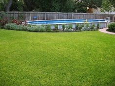 Large Above Ground Oval Pool - Bexar County by abovegroundpoolcompany, via… Above Ground Pool Landscaping, No Grass Backyard, Backyard Pool Landscaping, Swimming Pools Backyard, Landscaping With Rocks, Landscaping Ideas, Backyard Ideas, Oval Above Ground Pools, Above Ground Swimming Pools