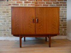 "Small teak sideboard designed by Borge Mogensen. Denmark, 1950s. 39.5"" x 18.5"" x 34.5"" high. | 895"