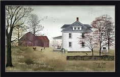 Spring Fever by Billy Jacobs Folk Art Americana Landscape 20x12 Framed Art Print   eBay
