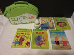 Leap Frog Tag Jr Junior Pen Books & Case LOT ~ Curious George - Backyardigans #LeapFrog