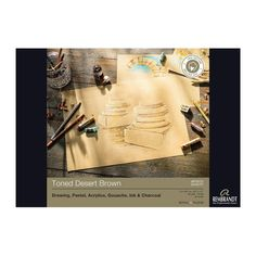 Rembrandt toned desert Brown paper pad 180gsm 50 sheets A4 - Paper, Canvas & Pads