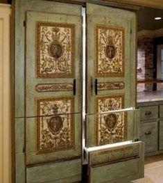 Винтажный стиль для холодильника