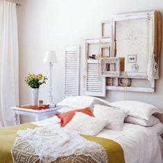 Modern Vintage Bedroom Decor Modern Vintage Bedroom Decorating love the frame thing behind the bed