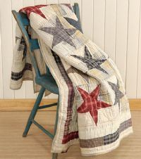 Stars quilt (with mom's clothes?)